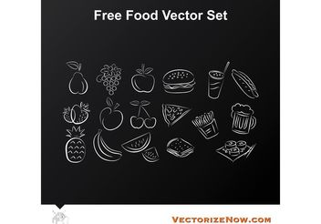 Fruit and Food Vector Icon Drawings - бесплатный vector #146805