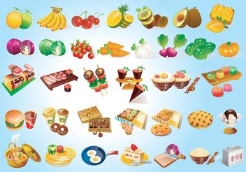 Free Food Graphics - бесплатный vector #146835