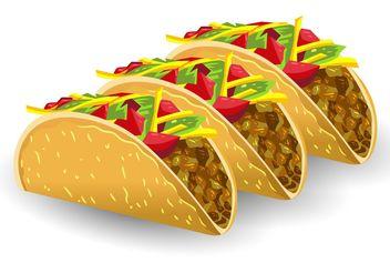 Taco Vectors - Free vector #146855