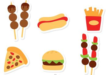 Food Icons Vectors - Free vector #146875