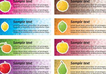 Polygonal Fruit Banner Vectors - vector #146905 gratis