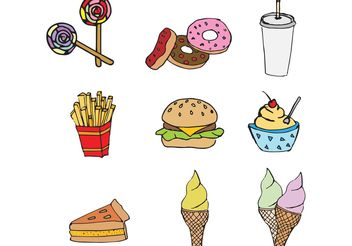 Free Fast Food Vector Pack - Free vector #146945