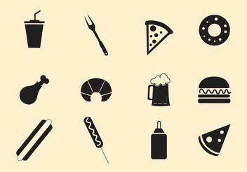 Fast Food Vectors - Free vector #146995