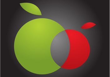 Twin Apples - Free vector #147025