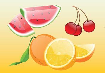 Realistic Fruit Vectors - Free vector #147035