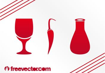 Food And Drinks Icons - vector gratuit #147145