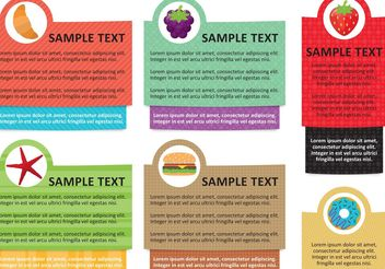 Food Info Text Box Template Vectors - Free vector #147165