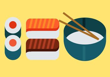 Japanese Food Vector Pack - vector gratuit #147195
