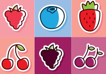 Cartoon Berries Vectors - vector gratuit #147305
