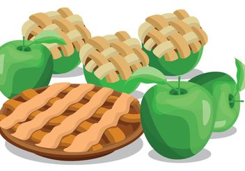 Apple Pie Vectors - vector gratuit #147425