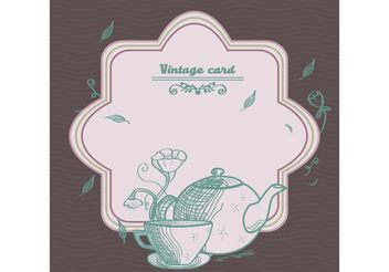 Vintage Tea Card Vector - vector gratuit #147435