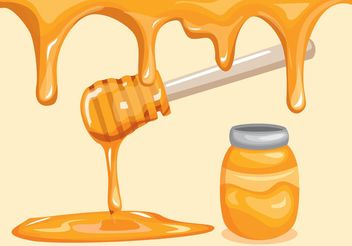 Honey Drip Background - Free vector #147455