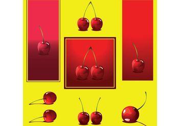 Cherry Vectors - vector gratuit #147535