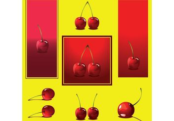 Cherry Vectors - бесплатный vector #147535