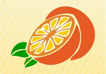 Sliced Orange - Free vector #147545