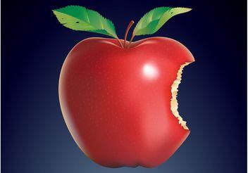 Bitten Apple - Kostenloses vector #147555
