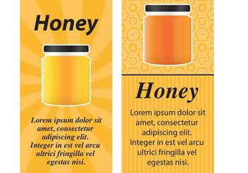 Honey Jar Vector Cards - бесплатный vector #147585