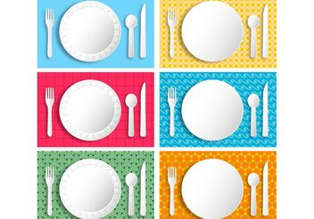 Paper Picnic Plates - Free vector #147675