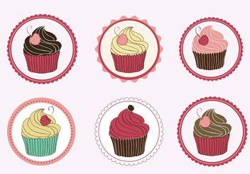 Cupcakes Vectors - vector gratuit #147775