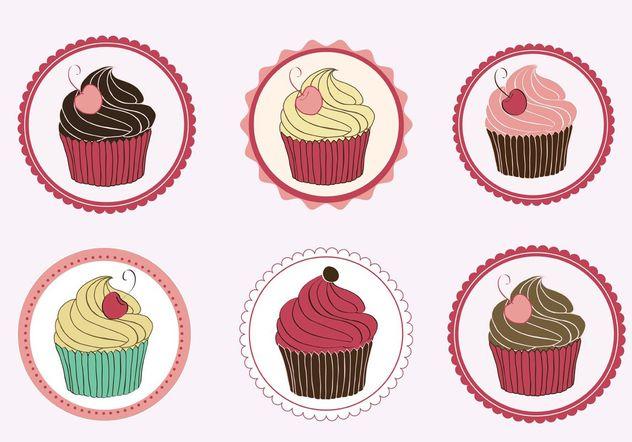 Cupcakes Vectors - Free vector #147775