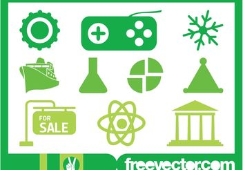 Various Icons Set - Free vector #147785