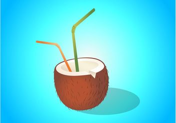 Coconut Drink Illustration - Free vector #147815
