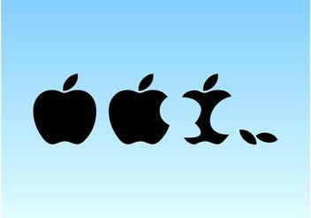 Apple Logo Vector - Free vector #147835