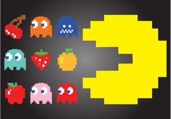 Pac-Man Characters - Free vector #147845