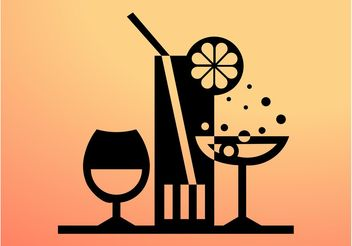 Cocktails Icon - Free vector #147885