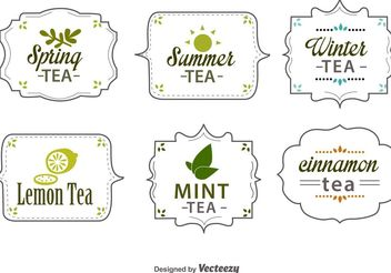 Seasonal Tea Tags - vector gratuit #148015