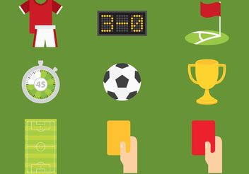 Soccer Vector Icons - Free vector #148065