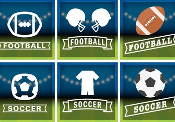 Football & Soccer Badge Vectors - бесплатный vector #148195