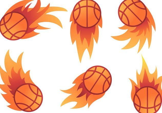 Basketball on Fire vectors - vector gratuit(e) #148205