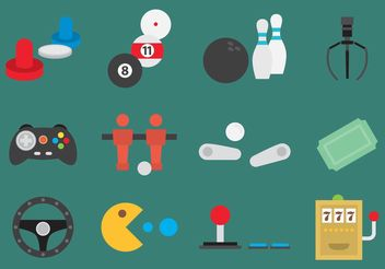 Arcade Game Vector Icons - бесплатный vector #148235