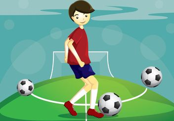 Soccer Vector Player - Kostenloses vector #148265