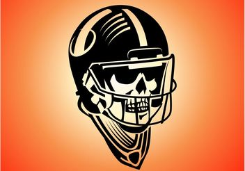 Skeleton Football Player - vector gratuit #148275
