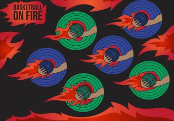 Basketball on Fire Vectors - Free vector #148295