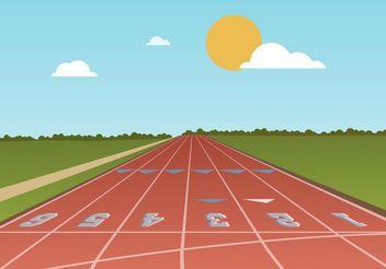 Free Running Track Vector - vector #148335 gratis