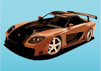 Mazda Sports Car - vector gratuit #148395