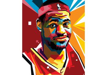 Free Lebron Vector Portrait Two - Kostenloses vector #148455