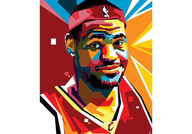 Free Lebron Vector Portrait Two - vector gratuit(e) #148455