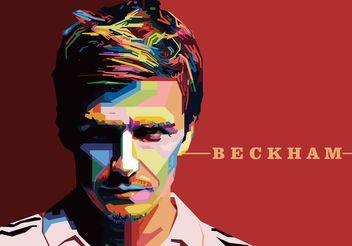 David Beckham Vector Portrait - Kostenloses vector #148525