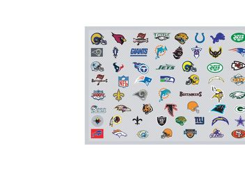 NFL Team Vector Logos - Kostenloses vector #148535