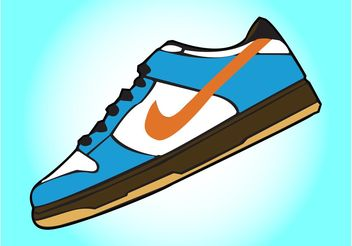 Nike Shoes Vector - Free vector #148565