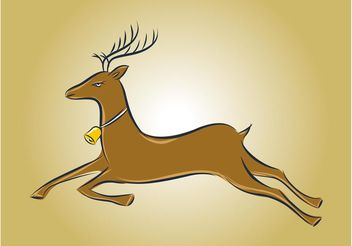 Running Deer Vector - Free vector #148625
