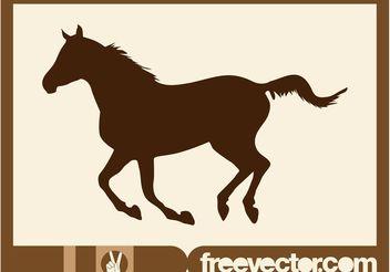 Running Horse Vector - Free vector #148665