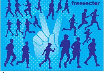 Runners Vectors - Free vector #148685