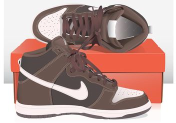 Nike Basket Shoes - vector #148715 gratis