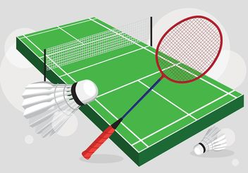 Badminton Court Vector Set - Kostenloses vector #148725