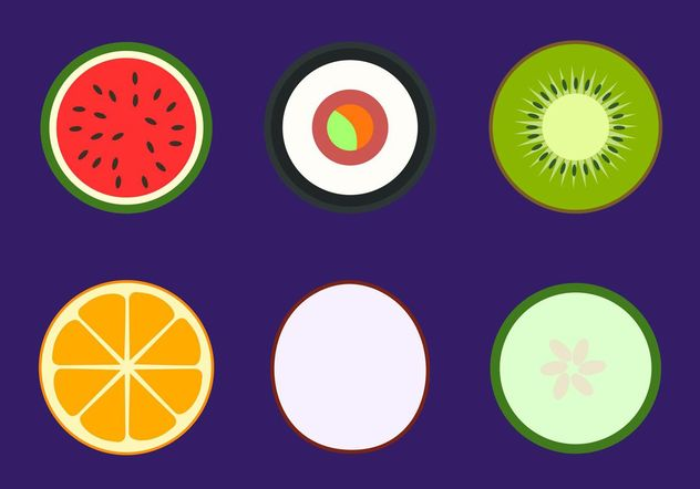 Simple Healthy Food Vectors - Free vector #148855
